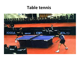 Table tennis PowerPoint PPT Presentation