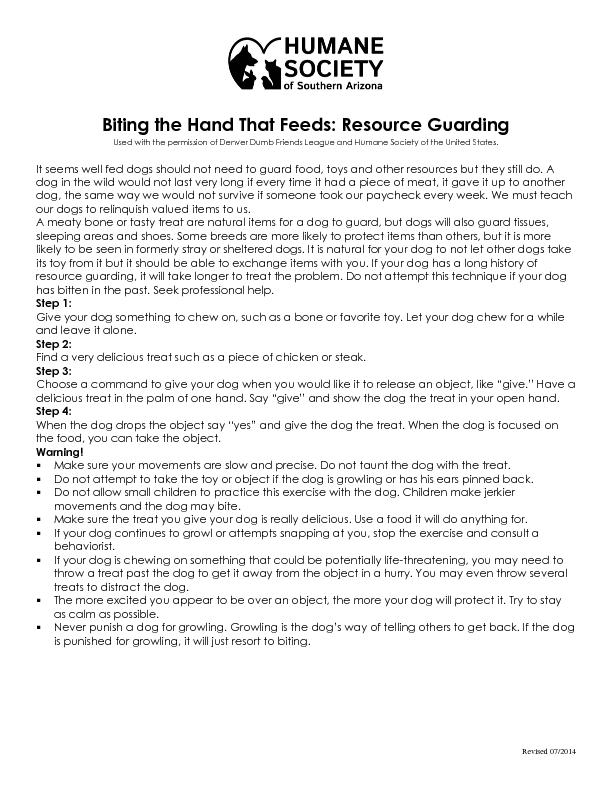 Biting the Hand That Feeds: Resource Guarding