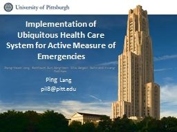 Implementation of Ubiquitous Health Care System for Active