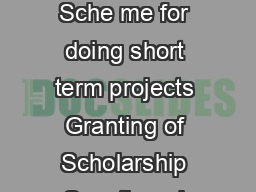 MAHATMA GANDHI UNIVERSITY Abstract ASPIRE Scholarship Sche me for doing short term projects Granting of Scholarship Sanctioned Orders issued                                                   ACADEMIC