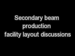 Secondary beam production facility layout discussions PowerPoint PPT Presentation