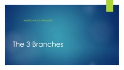 The 3 Branches PowerPoint PPT Presentation