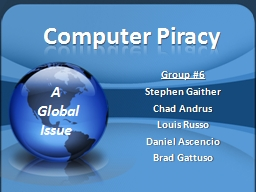 an overview of the computer piracy and the copyright issues An editorial about the serious nature of software piracy and issues about liability of system operators and about the scope of computer crime and copyright.
