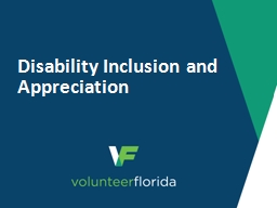 Disability Inclusion and Appreciation PowerPoint PPT Presentation