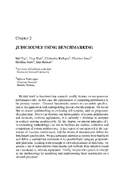 USING BENCHMARKING California at Electronics Research benchmarking res