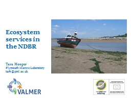 Ecosystem services in the NDBR