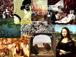 Poems on Paintings PowerPoint PPT Presentation