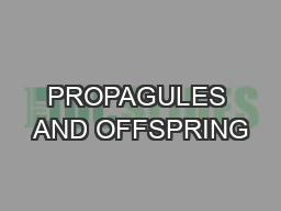PROPAGULES AND OFFSPRING