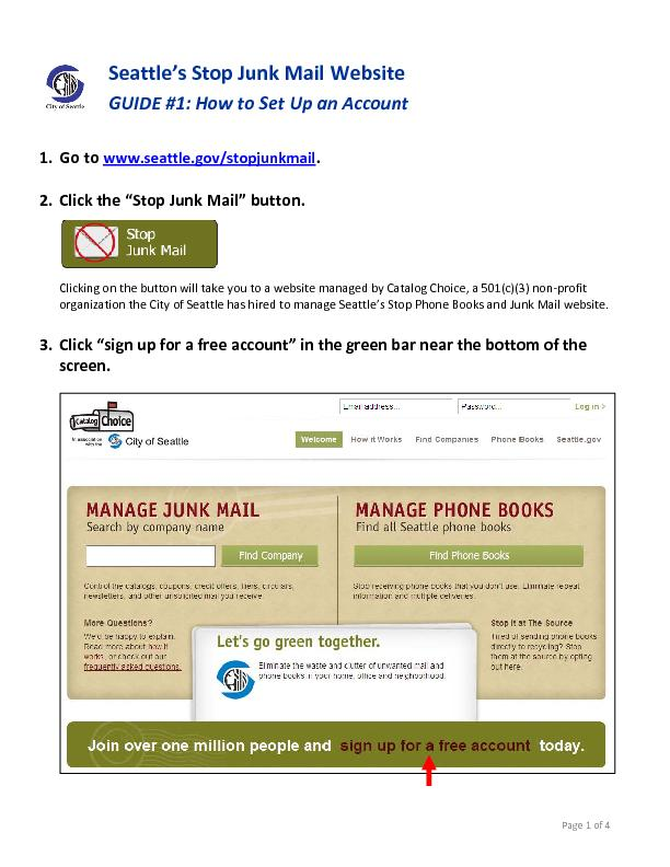 ttle's Stop Junk MailWebsiteGUIDE #How to SetUp an AccountGo to PowerPoint PPT Presentation