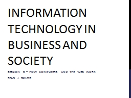 Information technology in business and society PowerPoint PPT Presentation