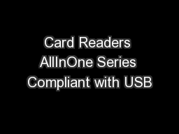 Card Readers AllInOne Series Compliant with USB