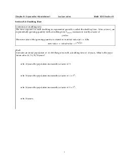 Chapter  Exponential Astonishment Lecture notes Math  Section B Section B