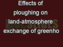 Effects of ploughing on land-atmosphere exchange of greenho