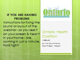 Ontario Health Coalition PowerPoint Presentation, PPT - DocSlides