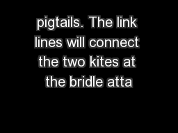 pigtails. The link lines will connect the two kites at the bridle atta
