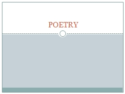 POETRY PowerPoint PPT Presentation