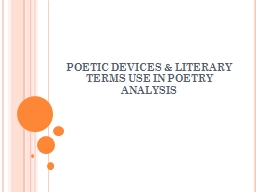 sound devices in poetry powerpoint presentation ppt