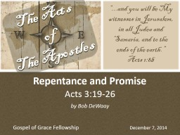 Acts 3:19-26 PowerPoint PPT Presentation