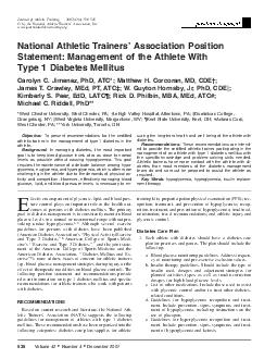 Volume  Number  December  Journal of Athletic Training  by the National Athletic Trainers Association Inc www