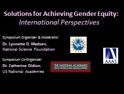 Solutions for Achieving Gender Equity: