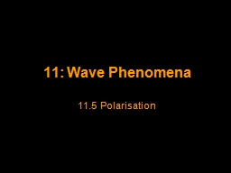 11: Wave Phenomena