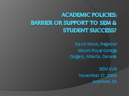 Academic Policies: PowerPoint PPT Presentation