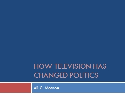 How Television has Changed Politics