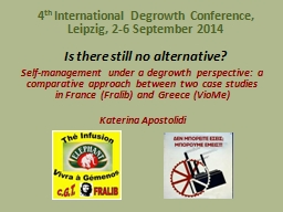 Is there still no alternative? PowerPoint PPT Presentation