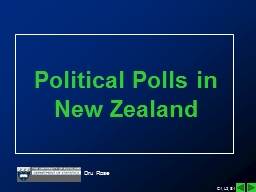 Political Polls in New Zealand