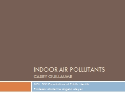 Indoor air pollutants PowerPoint PPT Presentation