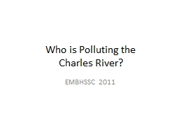Who is Polluting the PowerPoint PPT Presentation
