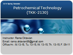 Petrochemical Technology
