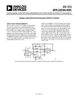 Circuit Note CN  Circuit Designs Using Analog Devices Products Apply these produ