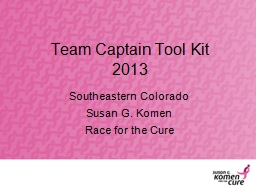 Team Captain Tool Kit PowerPoint PPT Presentation