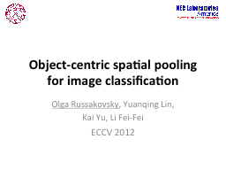 Object-centric spatial pooling
