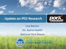 Update on PED Research PowerPoint PPT Presentation