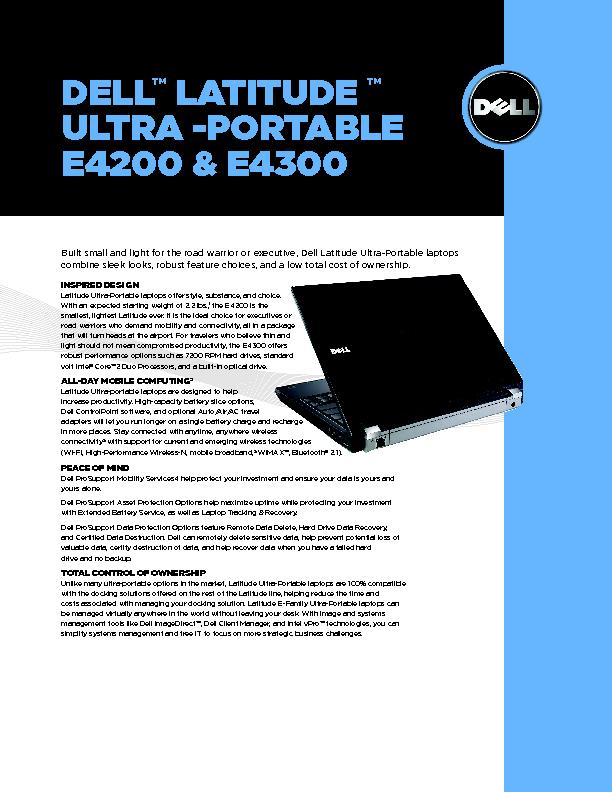 Built small and light for the road warrior or executive, Dell Latitude