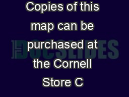 Copies of this map can be purchased at the Cornell Store C  PDF document - DocSlides