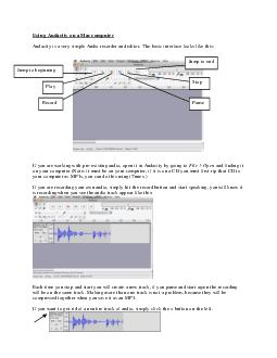 Using Audacity on a Mac computer Audacity is a very simple Audio recorder and editor