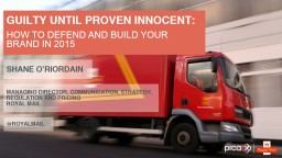 GUILTY UNTIL PROVEN INNOCENT: PowerPoint PPT Presentation