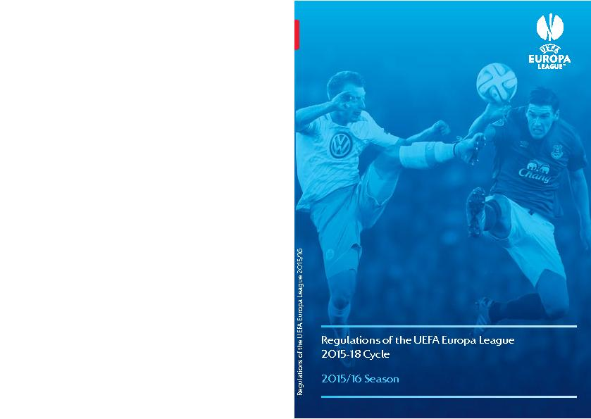 Regulations of the UEFA Europa League2015-18 Cycle