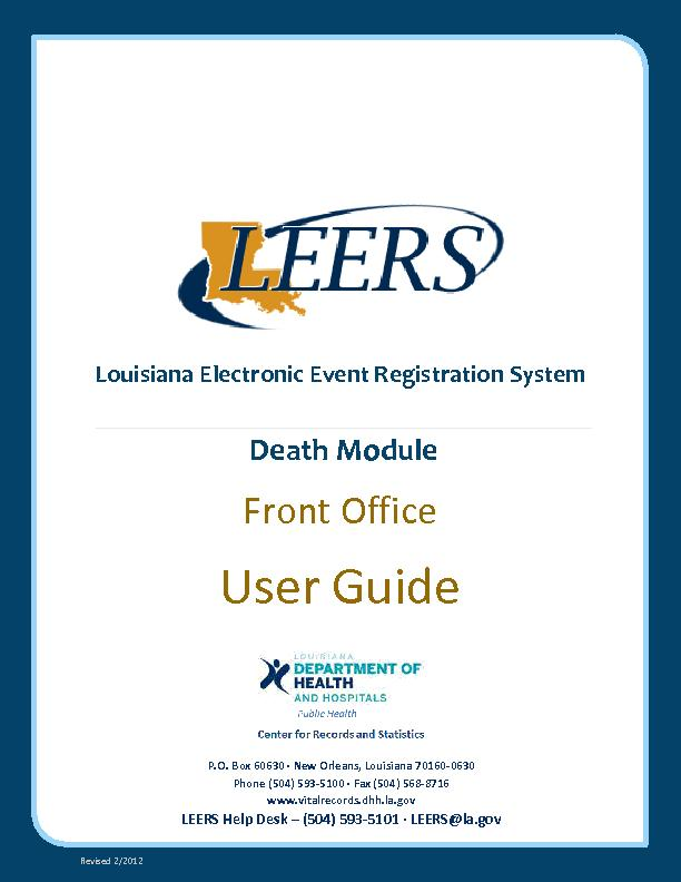 LouisianaElectronic Event Registration System