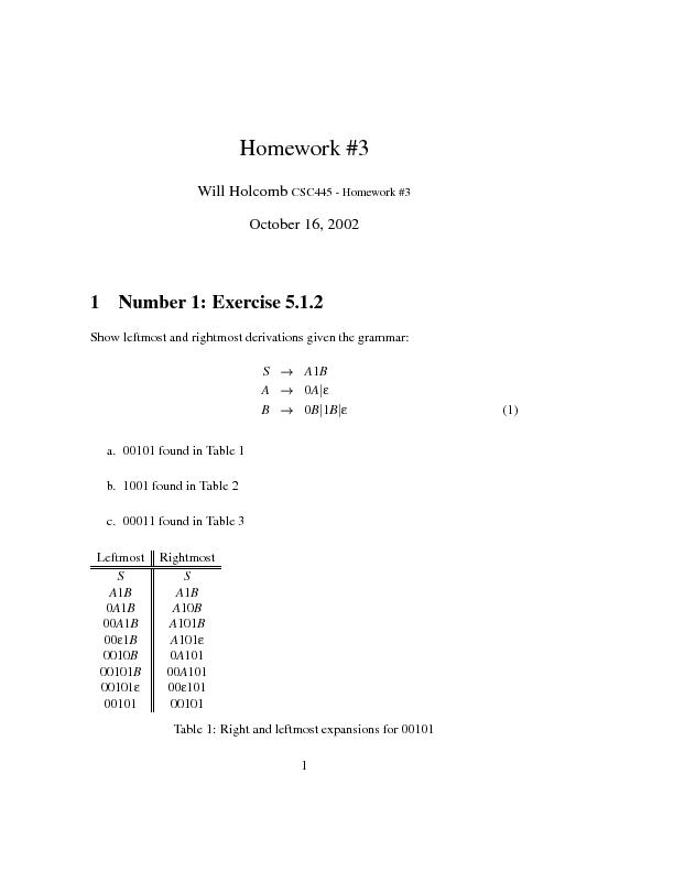 Homework#3WillHolcombCSC445-Homework#3October16,20021Number1:Exercise5