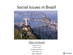 Social Issues in Brazil
