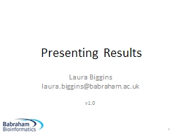 Presenting Results PowerPoint PPT Presentation