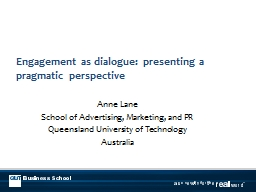 Engagement as dialogue: presenting a pragmatic perspective