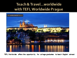 Teach & Travel…worldwide