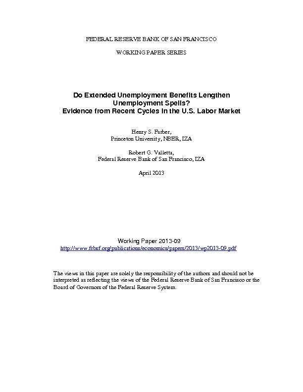 FEDERAL RESERVE BANK OF SAN FRANCISCOWORKING PAPER SERIES