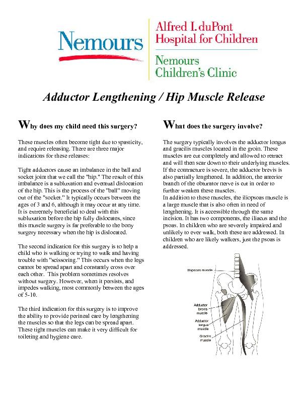 These muscles often become tight due to spasticity, and require releas