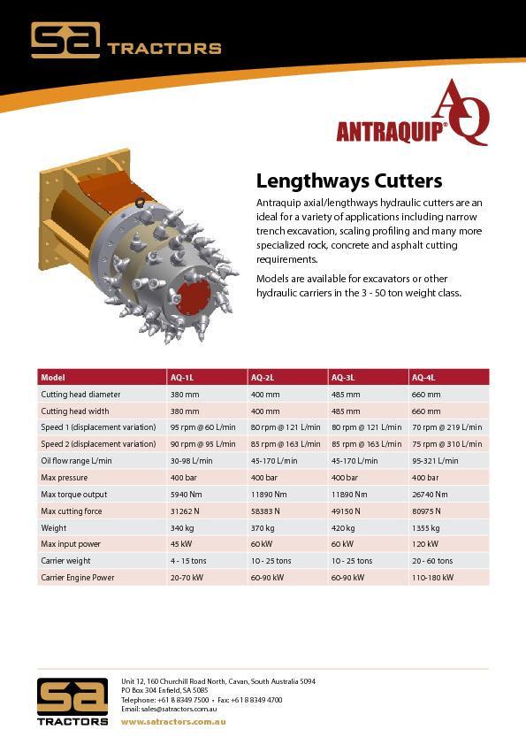 Lengthways Cutters